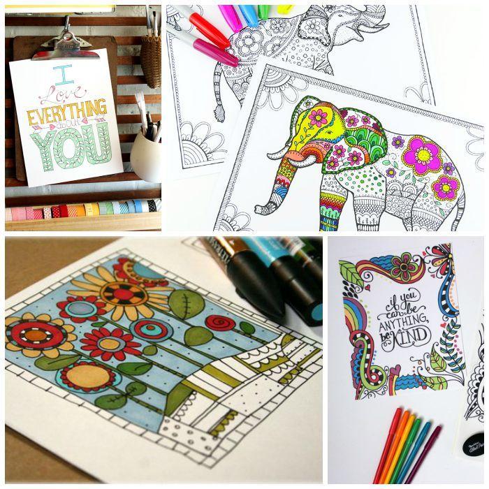25 FREE Adult Coloring Pages | Colorear, Mandalas y Mandalas colores