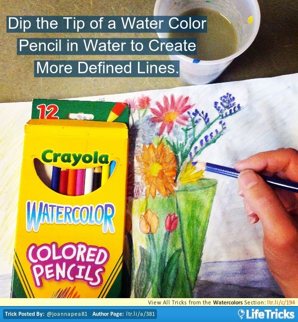Watercolors A Good Way To Make More Defined Lines With Water