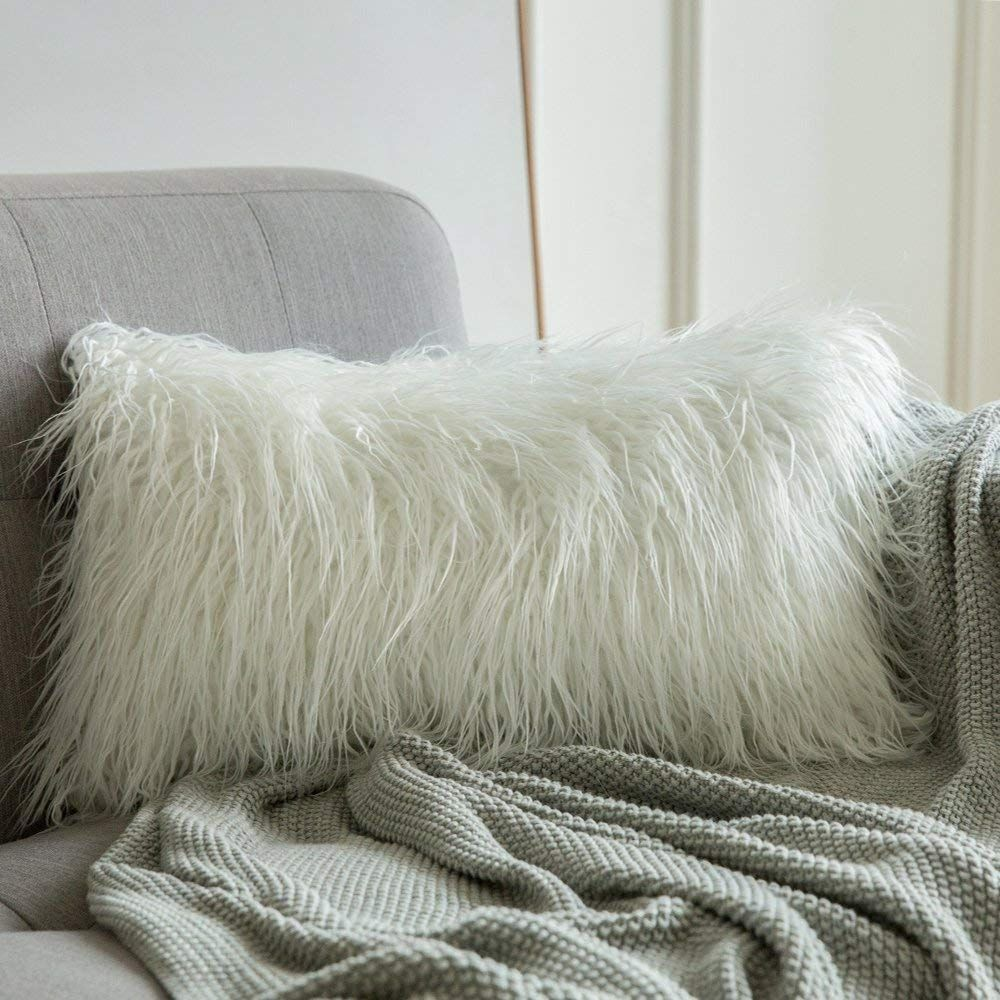 Decorative New Luxury Series Style White Faux Fur Throw Pillow Case Cushion In 2020 White Faux Fur Throw Throw Pillows Fur Throw Pillows