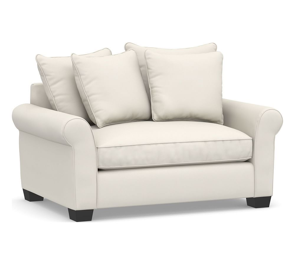 Pb Comfort Roll Arm Upholstered Twin Sleeper Sofa With