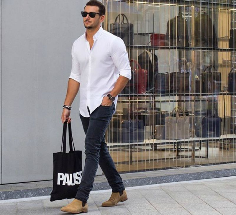 ed02ef7c938 How to Wear Chelsea Boots | Stuff to Buy | Mens fashion blog, Mens ...