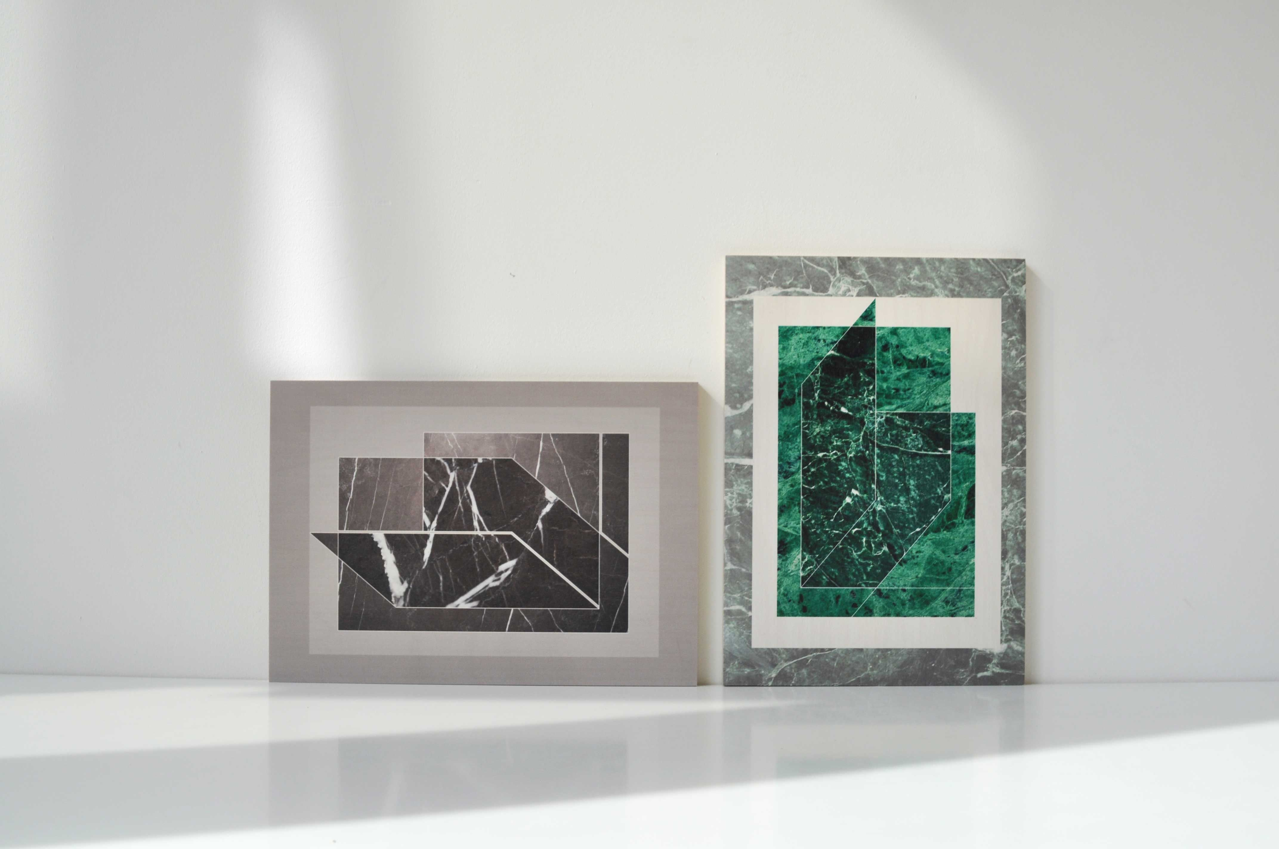 Marble Illustrations printer on timber by Kaan Alpagut