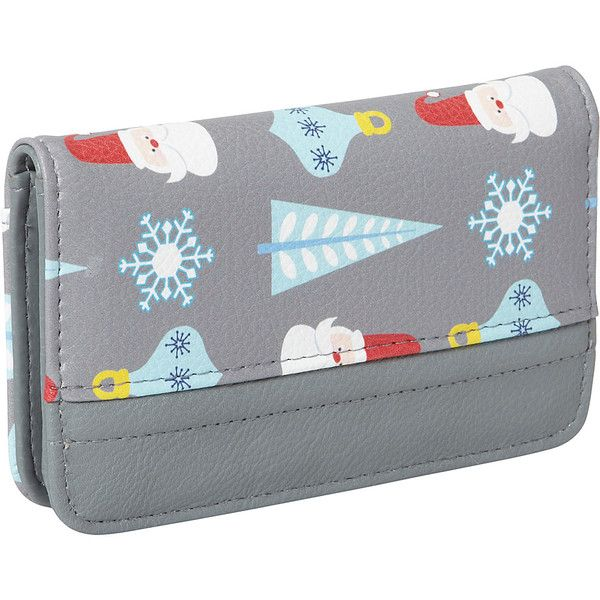 Buxton Christmas Pik Me Up Snap Card Case 9 71 Liked On Polyvore Featuring Bags And Wallets Card Carrier Wallet Credit Card Holder Wallet Snap Bag