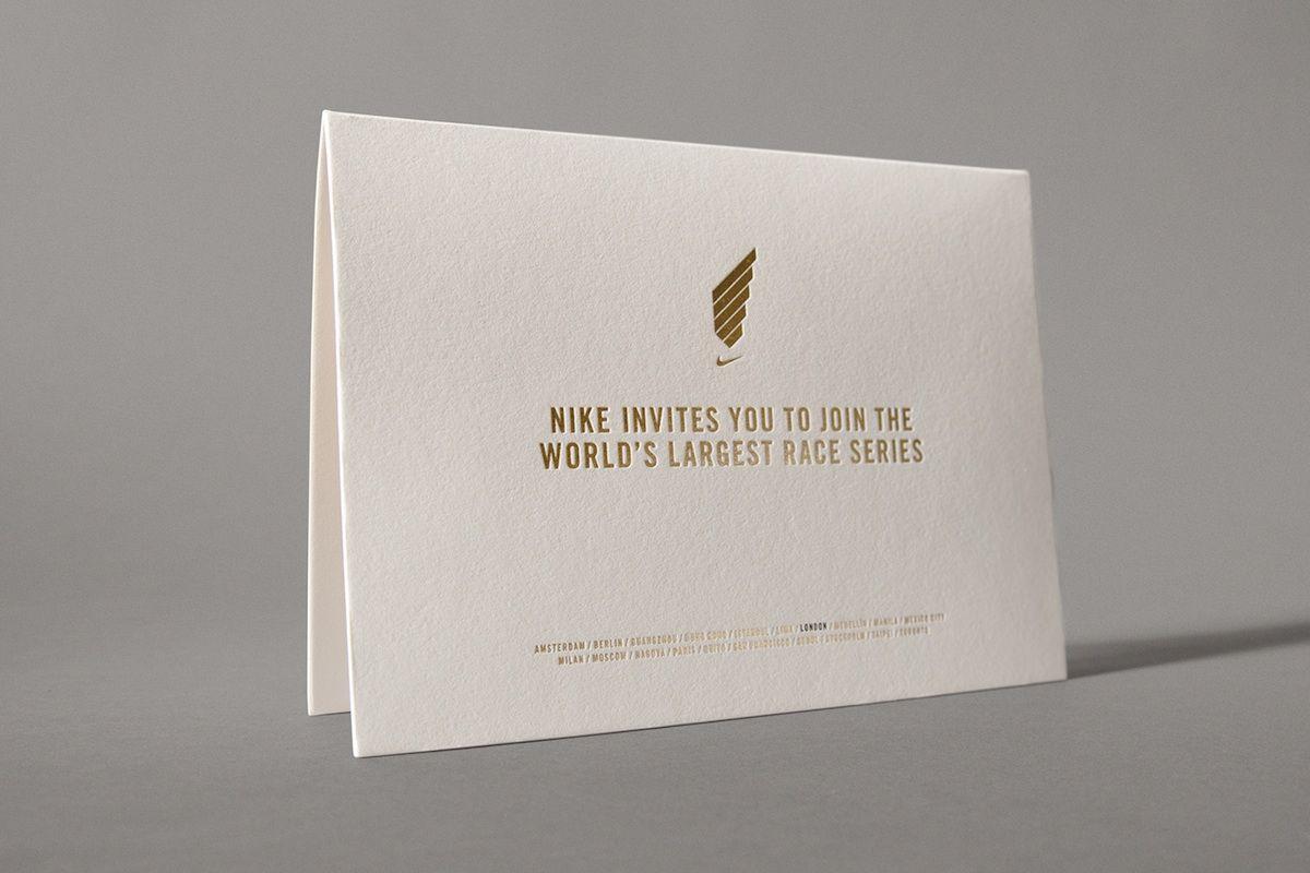 nike invitation design