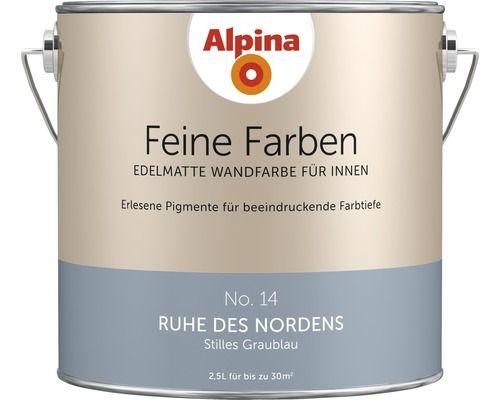 Alpina Wandfarbe Feine Farben Ruhe Des Nordens 2 5 L Alpina Wandfarbe Wandfarbe Feine Farben