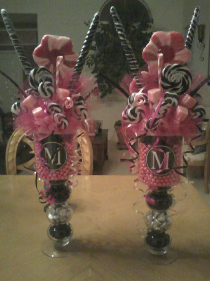 candy centerpiece ideas | Sweet 16 Candy Centerpieces - Candy Centerpiece Ideas Sweet 16 Candy Centerpieces Detalles Y