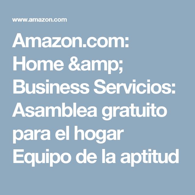 Amazon.com: Home & Business Servicios: Asamblea gratuito para el hogar Equipo de la aptitud