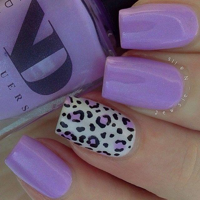 Light Purple Nail Polish Designs