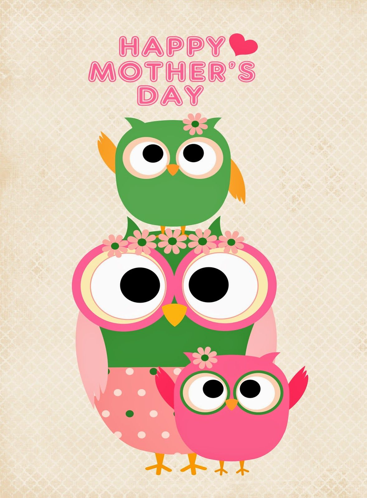 Free Owl Themed Mother\'s Day {Printables | Free printable, Owl and Free