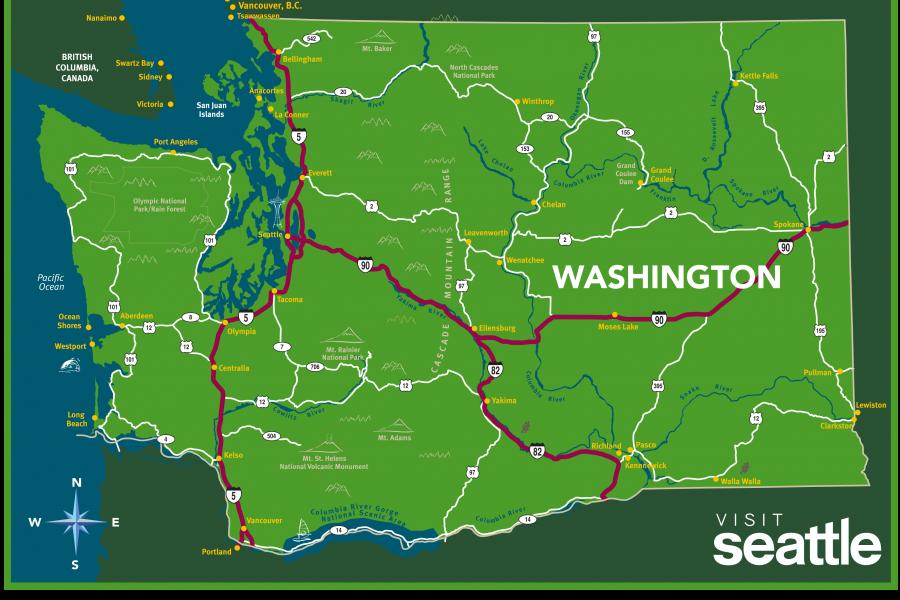 Maps Visit Seattle NW Pinterest Seattle