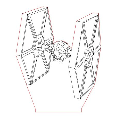 Tiefighter 3d Illusion Lamp Plan Vector File For Laser And Cnc 3bee Studio 3d Illusion Lamp 3d Illusions Illusions