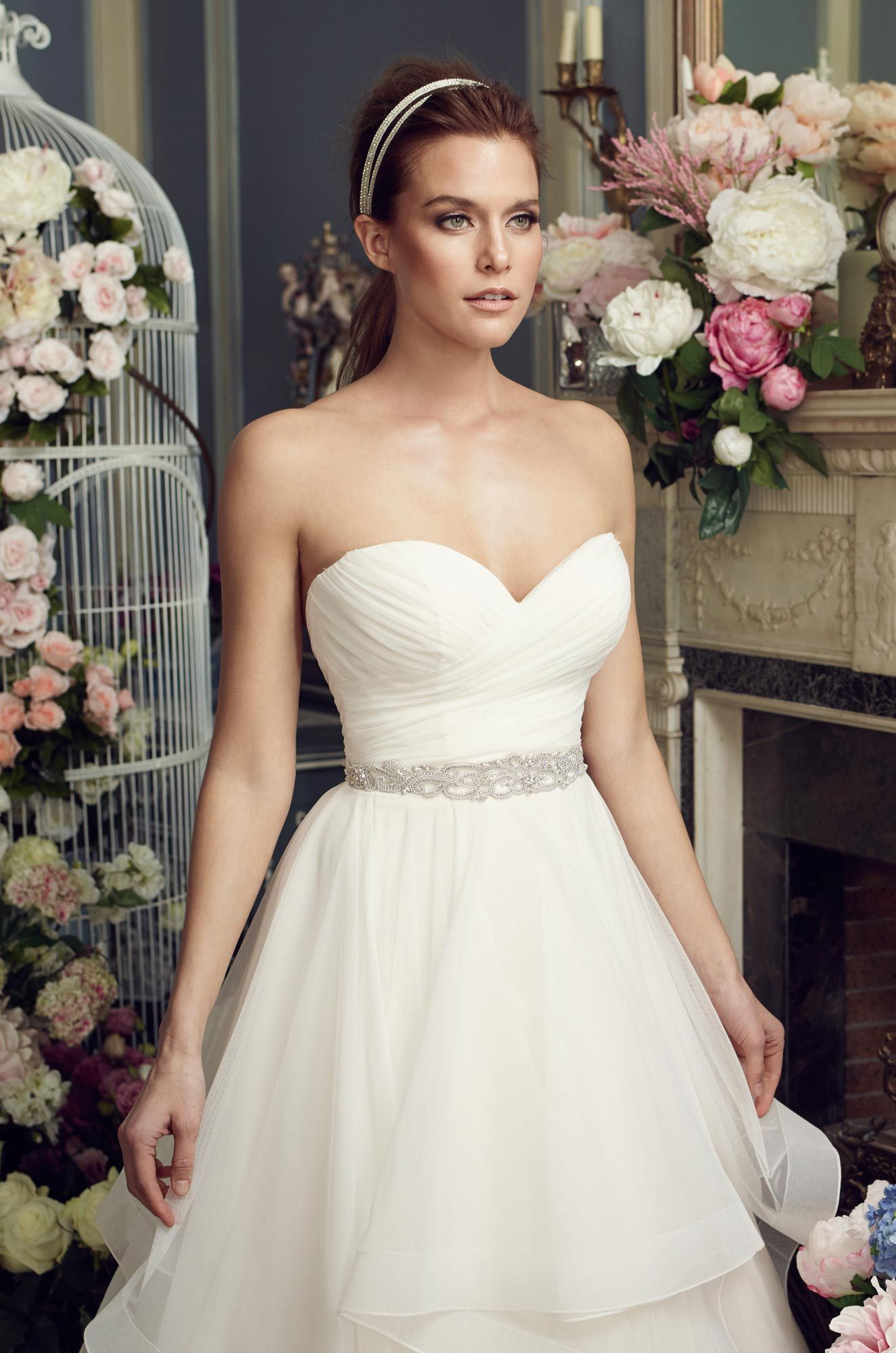 52a97cac754 Whimsical Tiered Wedding Dress - Style  2164 in 2019