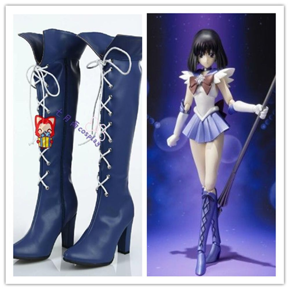 Sailor Moon Sailor Saturn Cosplay Shoes Boots Cos Shoes