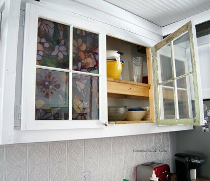 How to Apply Window Film to My Glass Kitchen Cabin
