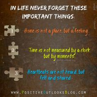 The Three Most Important Things In Life Positive Outlooks Blog
