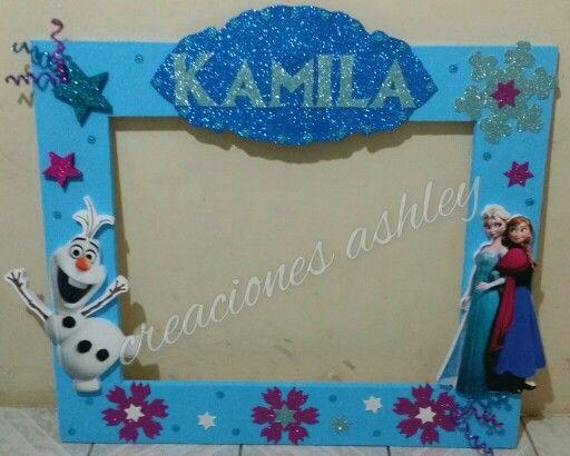 Marco para fotos frozen decoracion para fiesta - Decoracion de marcos para fotos ...