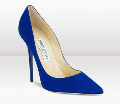 78c395430c1 Zapatos de novia en color azul de Jimmy Choo - Foto Jimmy Choo ...
