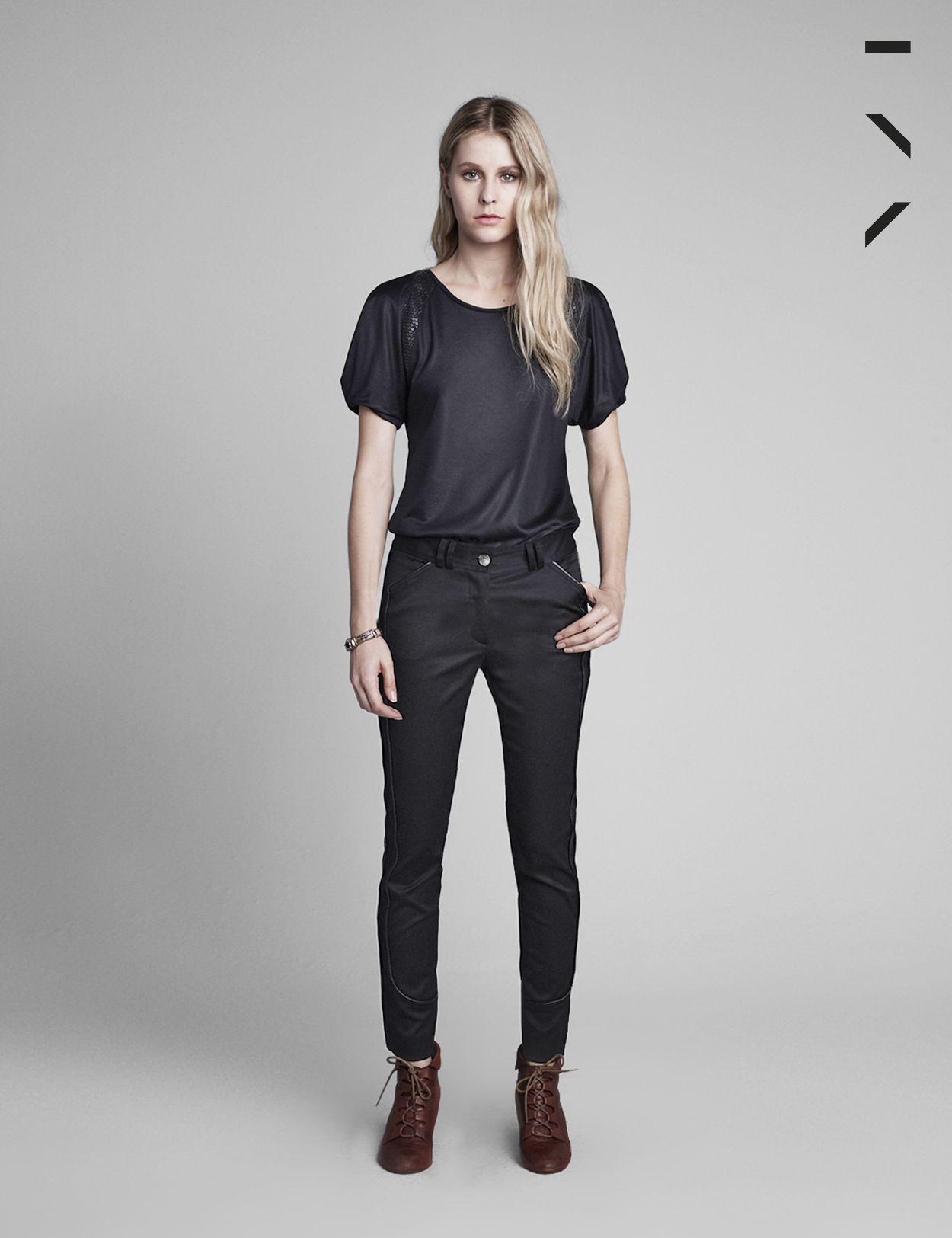 calça lina preta