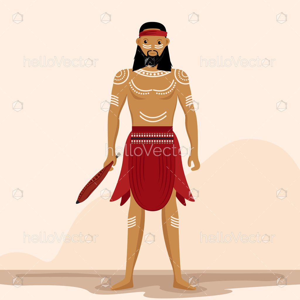 Indigenous People Vector Illustration Download Graphics Vectors Vector Illustration Indigenous Peoples Raster To Vector