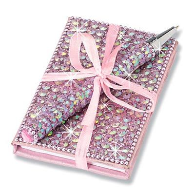 SPIRAL NOTEBOOK BLING Arts /& Crafts for ages 3+ SEQUIN