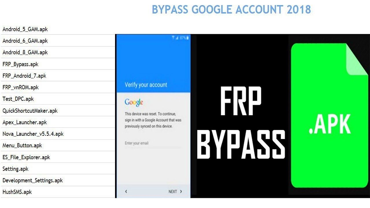 All in One - FRP Bypass Apk | Bypass Google Account Any Android