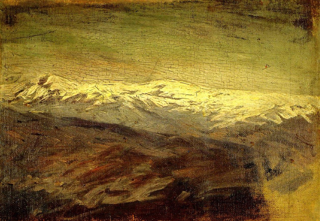 1898-Montaña nevada