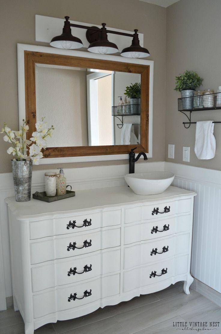 Farmhouse sink bathroom vanity - Farmhouse Bathroom Vanity And Farmhouse Light