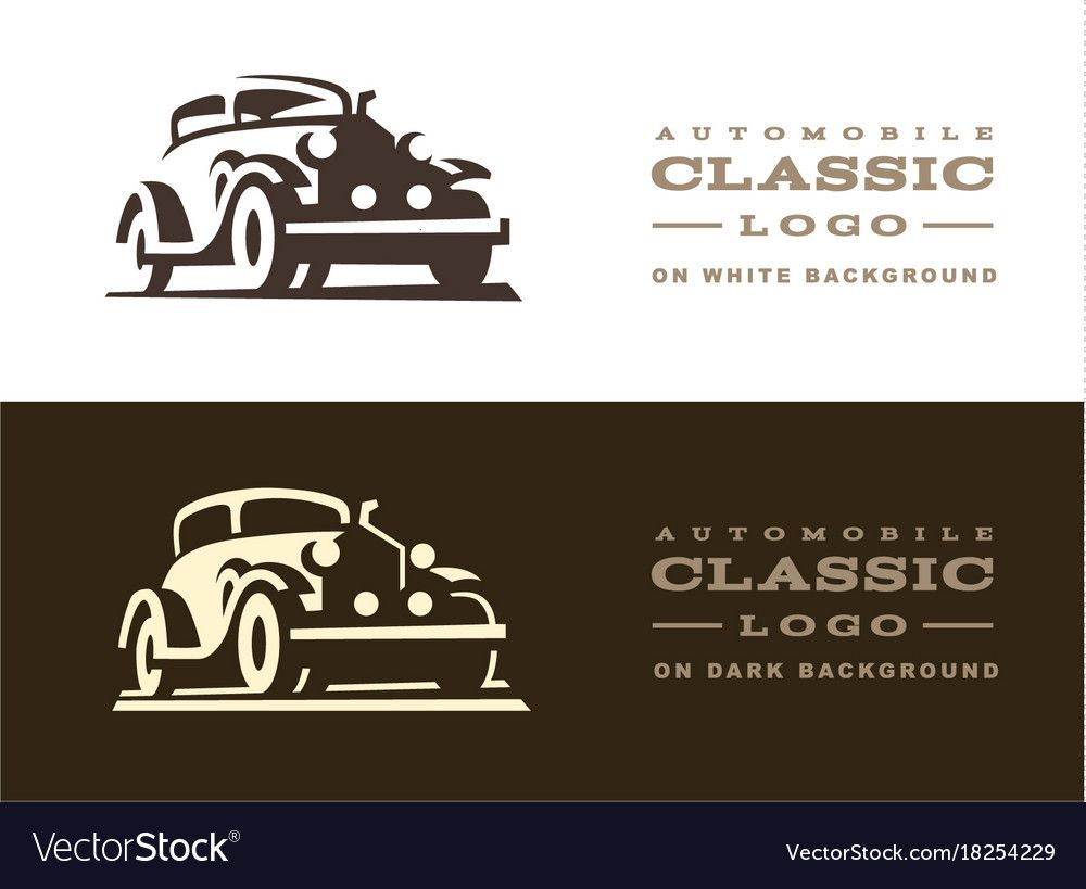 Classic car illustration on dark and light background. Download a Free Preview o…