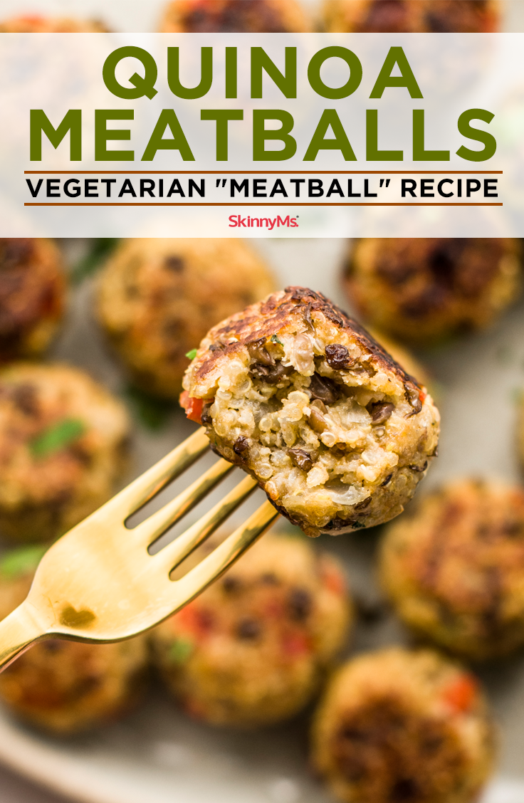 "Quinoa Meatballs   Vegetarian ""Meatball"" Recipe"