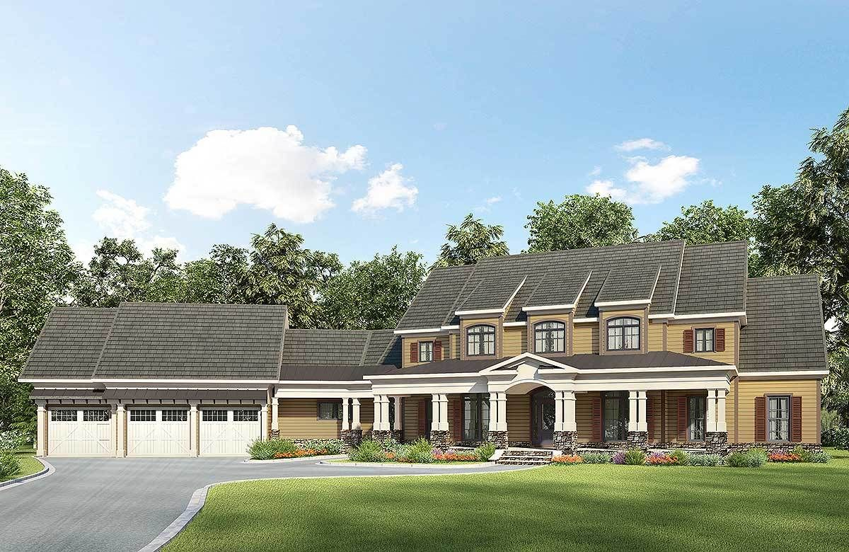 Rear Elevation of Ranch House Plan 98267