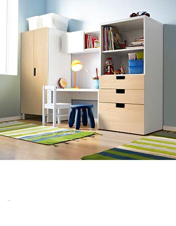 комбинация для хранения со скамьей стува Kid Storage Pinterest