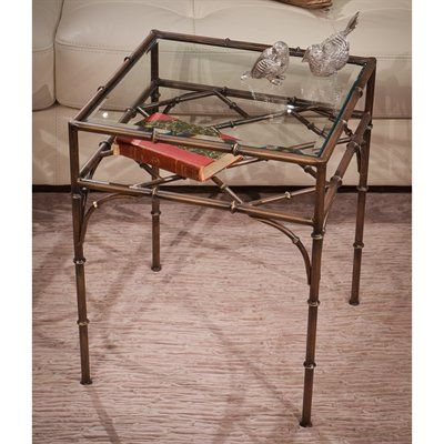 Dessau Home HC602 Bronze Bamboo Square Table | *Living Room Tables ...