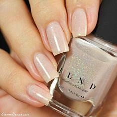 Elle - Almond Nude Holographic Sheer Jelly Nail Polish by ILNP