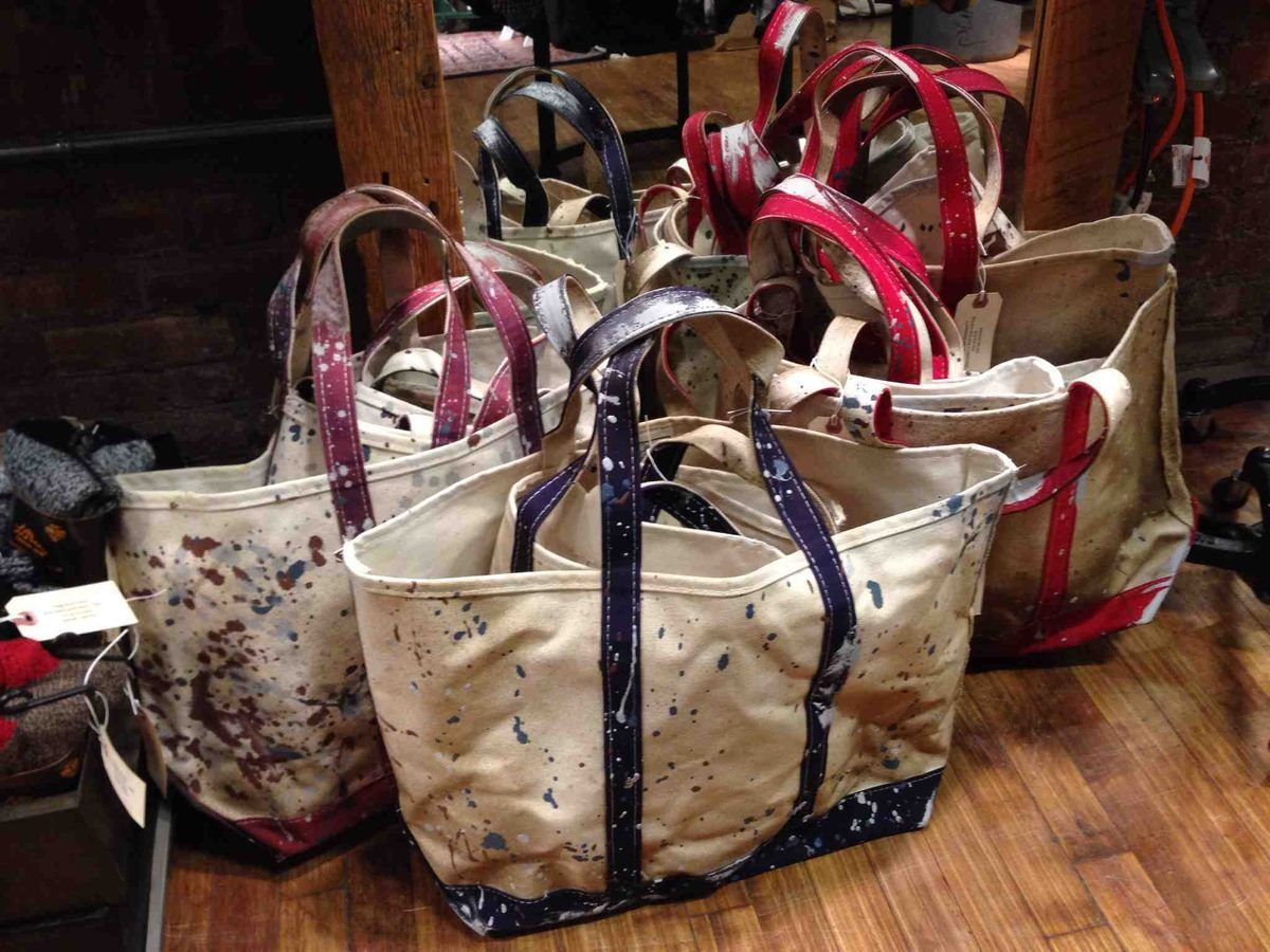 LLBean Signature Limited Edition Tote Bags From 2013 NYC Pop Up Flea