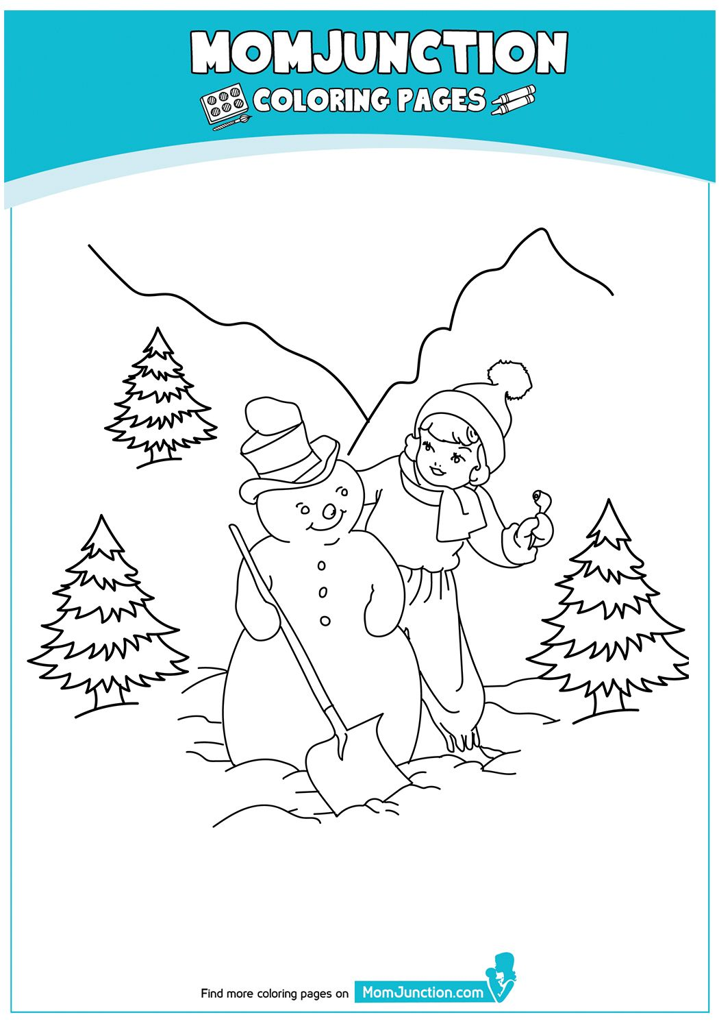 Top 20 Snowman Coloring Pages Your Toddler Will Love To