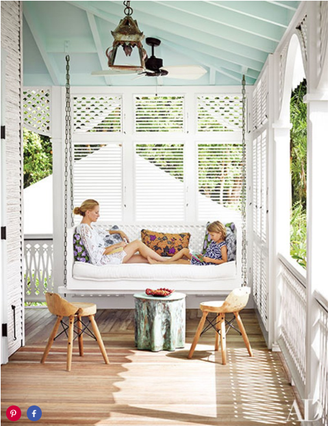 The History Behind Blue Porch Ceilings