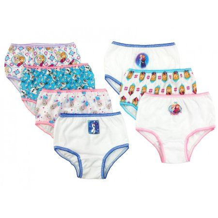 Disney Frozen Girls' Underwear, 7 Pack, Girl's, Size: 4, Blue