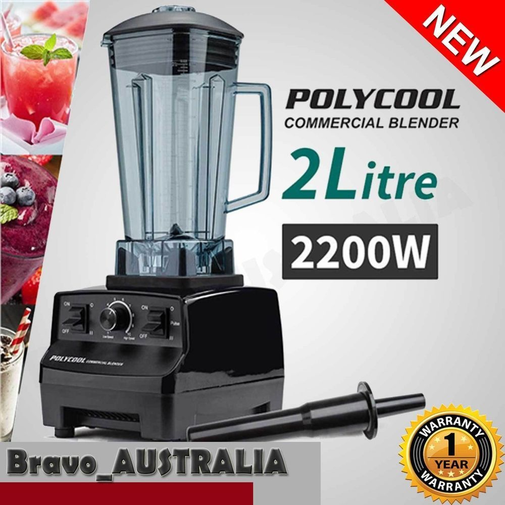 NEW 2L Commercial Blender - Mixer Juicer Food Processor Smoothie Ice ...