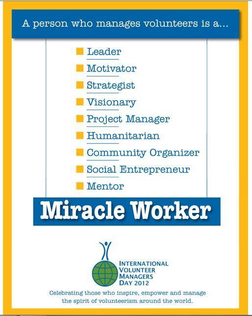International Volunteer Managers Day 2012 Volunteer Management