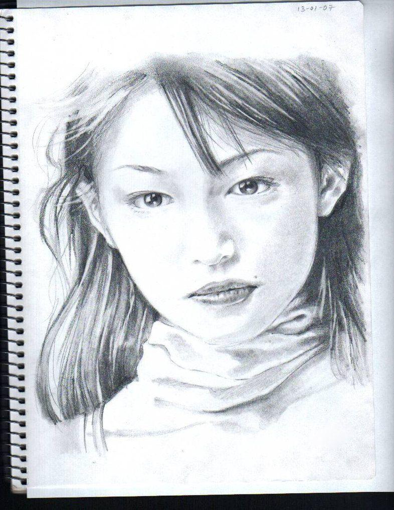 Pencil drawings japanese idol pencil drawing 2 by isashi on deviantart