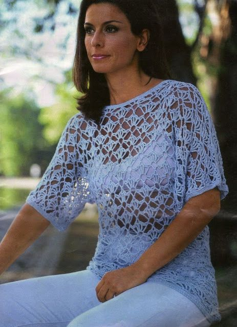 Patrones Crochet: Jersey Tunica Crochet Patron | Tejer | Pinterest ...