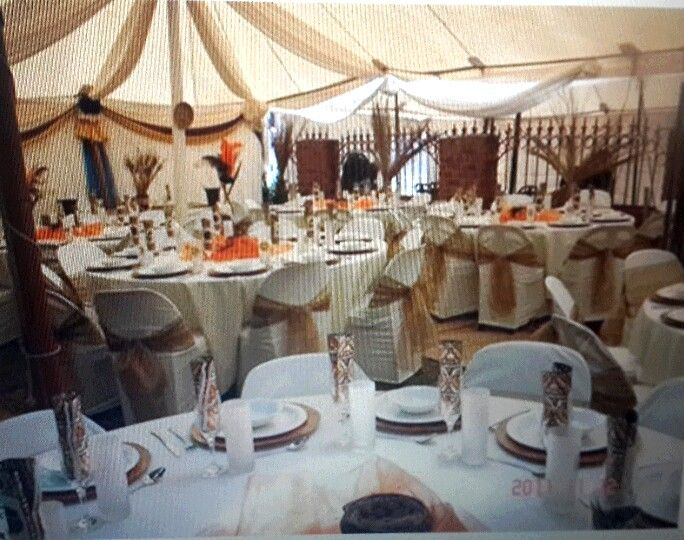 South african wedding decor images