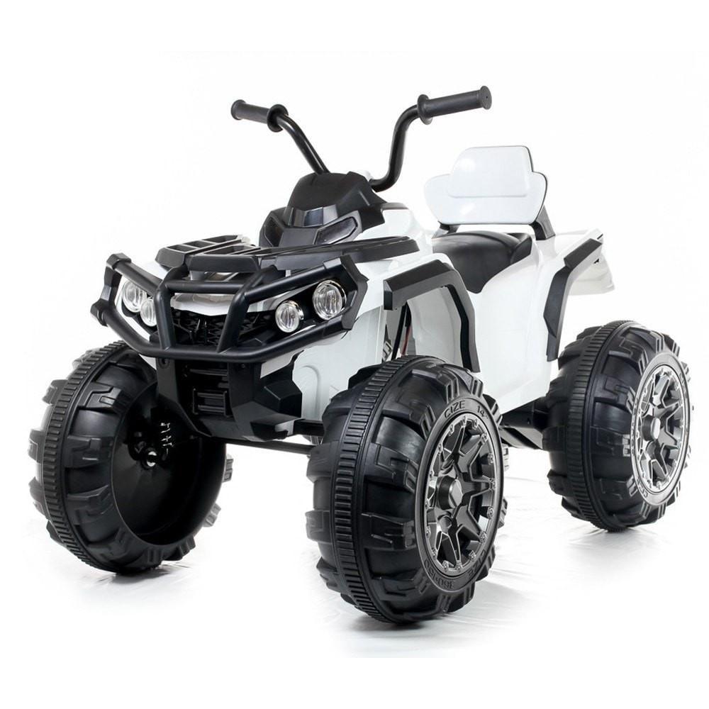 Kids Electric 12V Twin Motor Quad Bike White Ride on