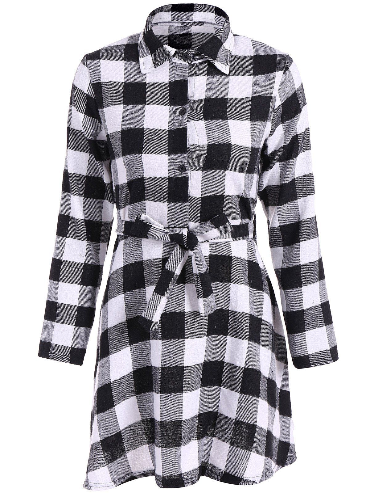 Flannel dress for women  Flannel Check Belted Shirt Dress  Mad For Plaid  Pinterest  Plaid