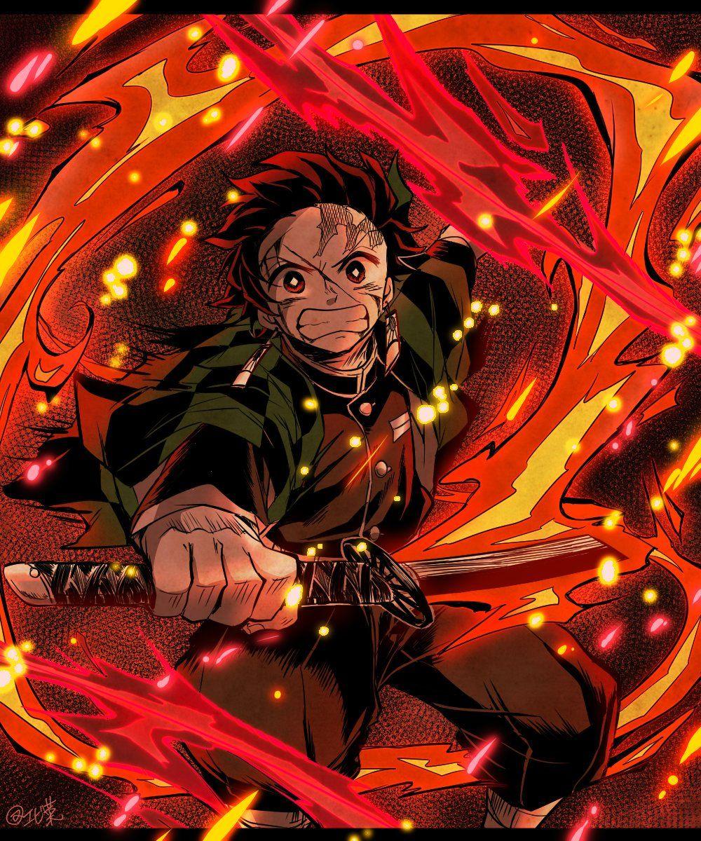 ⚡エビ菜🌸原稿 on   Anime demon, Slayer anime, Otaku anime