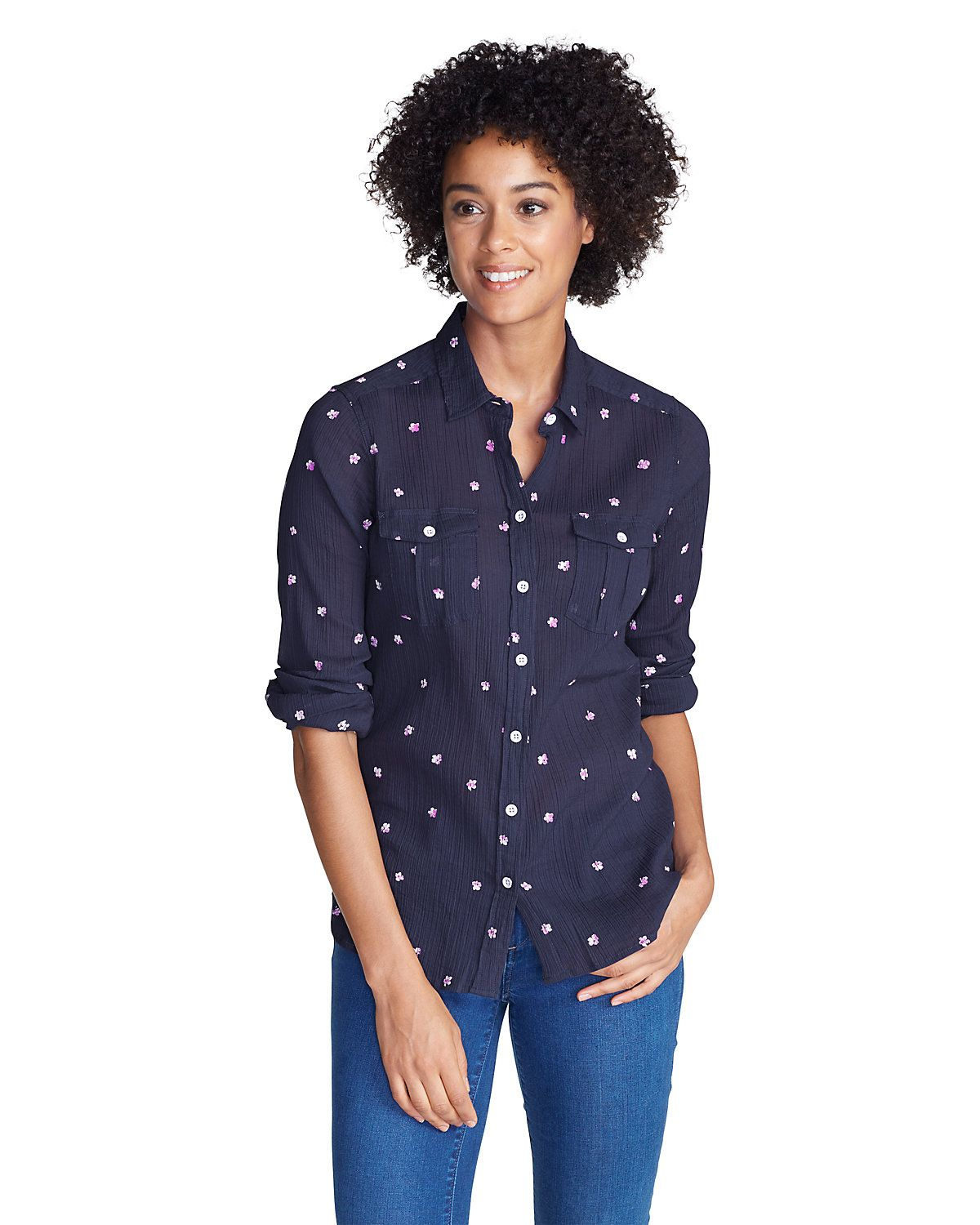 Women's Packable Shirt Print Eddie Bauer (With images