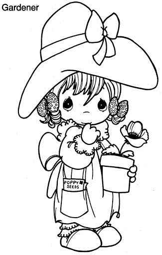 Gardener Coloring Pages Precious Moments Coloring Pages