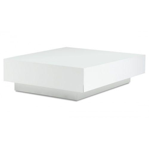 Salontafel Rechthoek Wit Hout.J Line Rechthoekige Witte Strakke Moderne Salontafel Rechthoek Hout