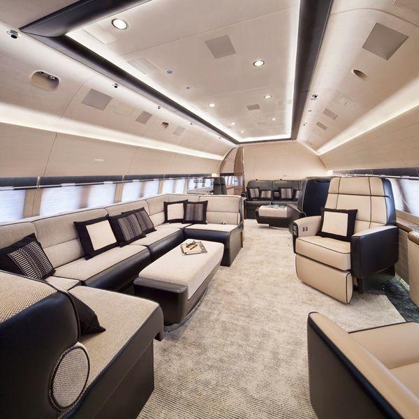 Private jet interior also billionaire lifestyle rh cz pinterest