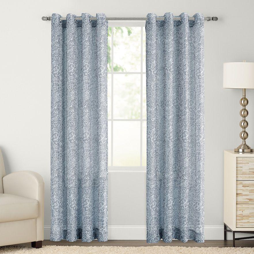 Sonoma Goods For Life 1 Panel Paisley Window Curtain Kohls
